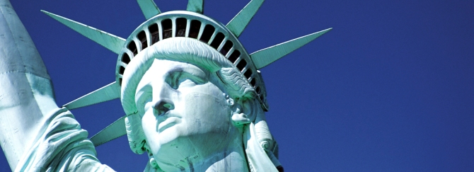 Close up of the Statue of Liberty New York USA