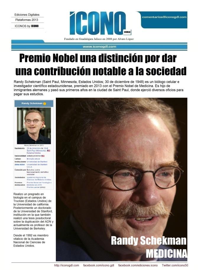 011 12 2013 LOS NOBEL 3 Randy Schekman