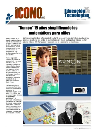 Franquicias KUMON clic para ir a nuestra FANPAGE