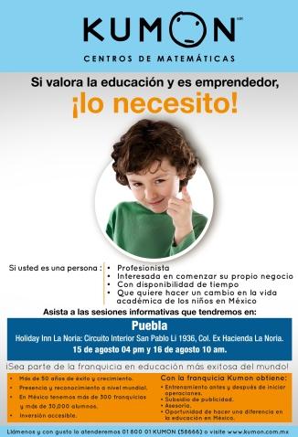 Sesion informativa Puebla verano de 2014