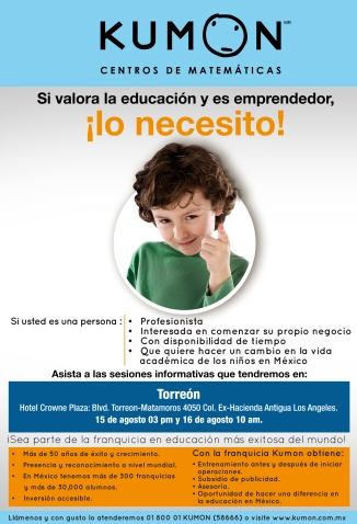 Sesion informativa Torreon verano de 2014