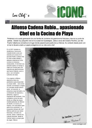 Chef Alfonso Cadena Rubio