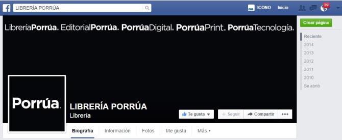 Banner Librería Porrua face
