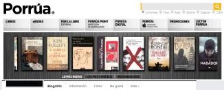 Banner Librería Porrua Website
