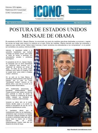 Mensaje Presidencial 2016 Barak Obama