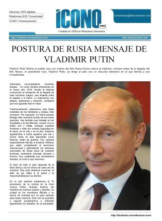 Mensaje Presidencial 2016 Vladimir Putin