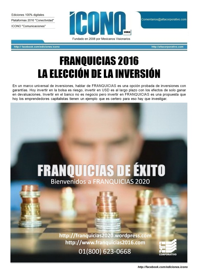 """Franquicias 2016 """"Plataforma Franquicias2020"""""""
