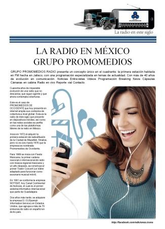 06 13 2016 La Radio en México PROMOMEDIOS