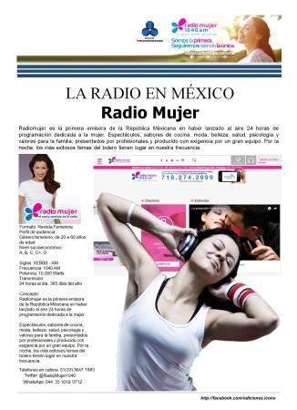 06 18 2016 La Radio en México Radio Mujer2
