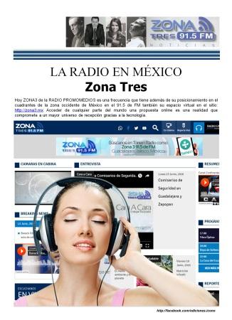 06 18 2016 La Radio en México ZONA TRES2